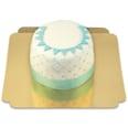 Happy Birthday Deluxe Torte - BLAU - Doppelte Höhe Schokoladenkuchen mit Schokoladenbuttercremefüllung 12 Portionen
