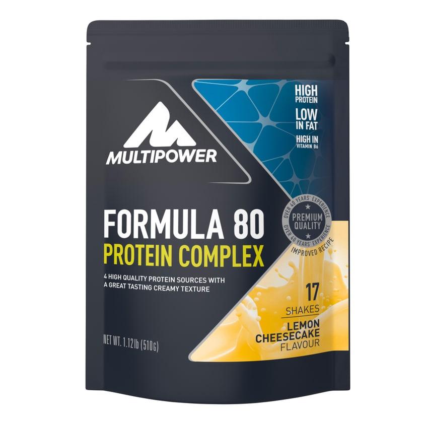 Multipower Formula 80 Protein Complex Lemon-Cheesecake 510g Beutel
