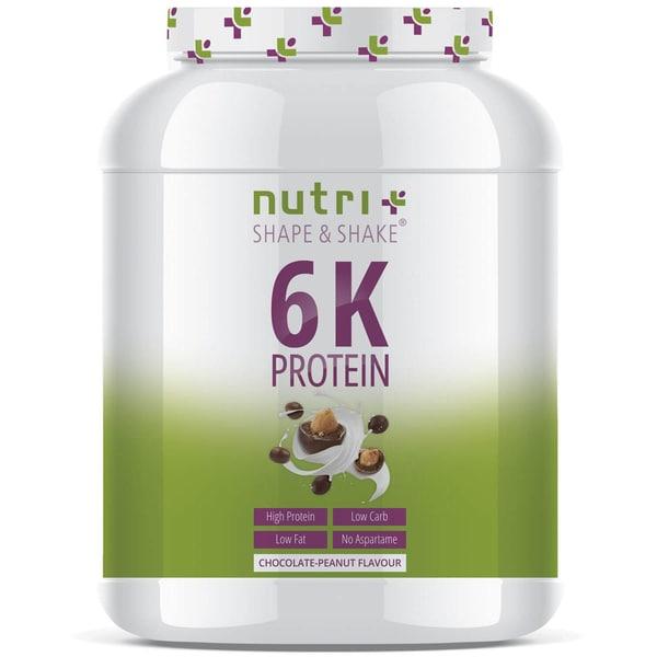 Nutri-Plus Shape & Shake Vegan 6K Protein Schoko-Erdnuss 1000g Dose