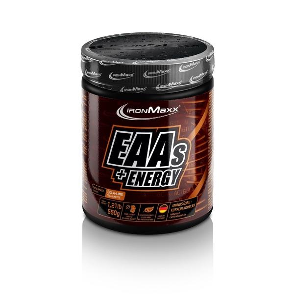 IronMaxx EAAs + Energy Cola-Limette 550g Dose