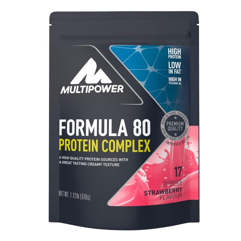 Multipower Formula 80 Protein Complex Erdbeer 510g Beutel