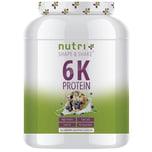Nutri-Plus Shape & Shake Vegan 6K Protein Blaubeer Muffin 1000g Dose