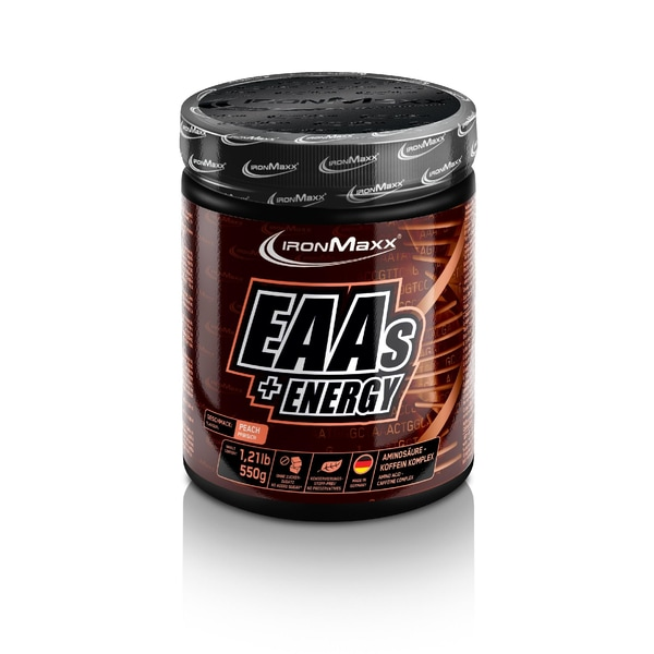 IronMaxx EAAs + Energy Peach 550g Dose
