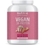 Nutri-Plus Shape & Shake Vegan 3K Protein Strawberry Cream 1000g Dose