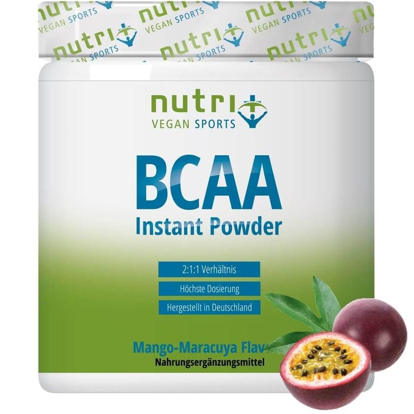 Nutri-Plus Vegan Sports BCAA Pulver Mango Maracuja 300g Dose