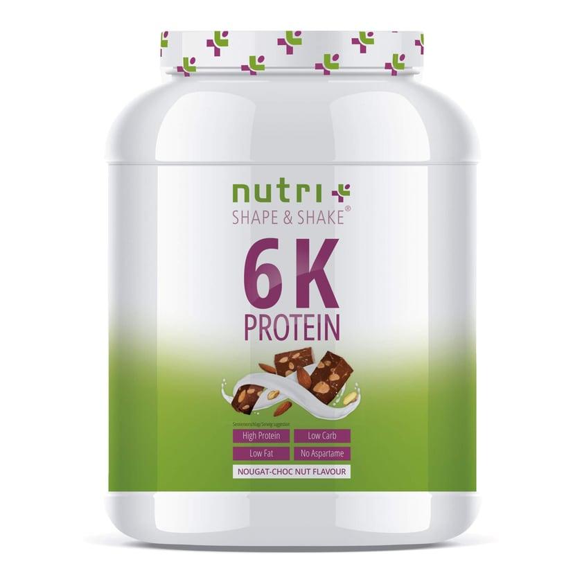 Nutri-Plus Shape & Shake Vegan 6K Protein Nuss Nougat 1000g Dose
