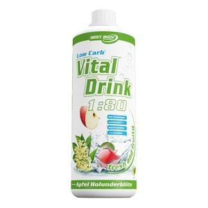 Best Body Nutrition Vital Drink Apfel Holunderblüte 1000ml Flasche