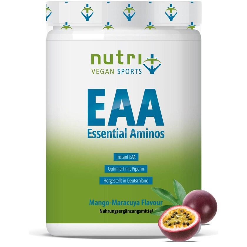 Nutri-Plus Vegan Sports EAA Pulver Mango Maracuja 500g Dose