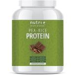 Nutri-Plus Shape & Shake Vegan Erbsen Reisprotein Schokolade 1000g Dose