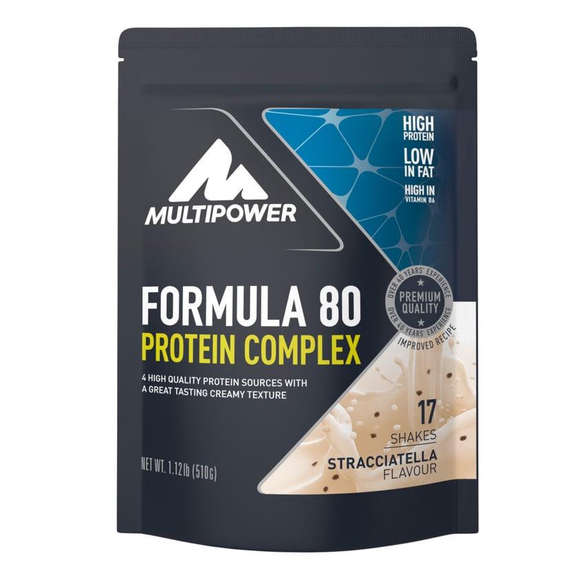 Multipower Formula 80 Protein Complex Stracciatella 510g Beutel