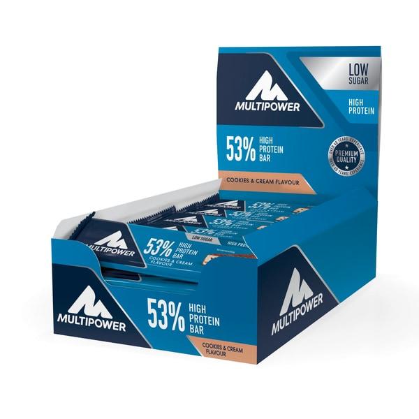 Multipower 53% Protein Bar Cookies & Cream 24 x 50g Riegel