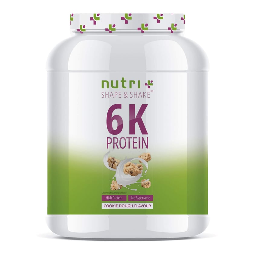 Nutri-Plus Shape & Shake Vegan 6K Protein Cookie Dough 1000g Dose