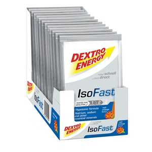 Dextro Energy Red Orange 12 x 56g Portionsbeutel Iso Fast