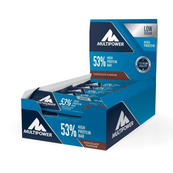 Multipower 53% Protein Bar Chocolate-Cream 24 x 50g Riegel