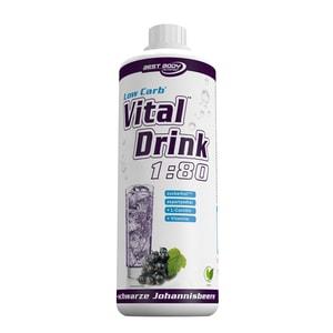 Best Body Nutrition Vital Drink Schwarze Johannisbeere 1000ml Flasche