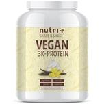 Nutri-Plus Shape & Shake Vegan 3K Protein Vanille 1000g Dose