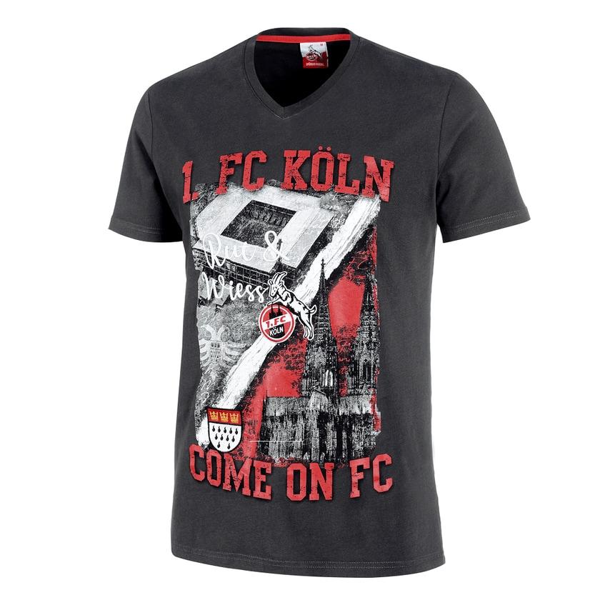 1. FC Köln T-Shirt Rockenhauser Str. schwarz/rot