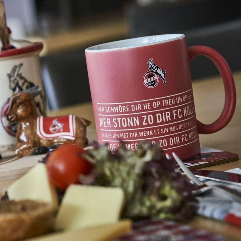 1. FC Köln Geprägte Tasse Hymne rot