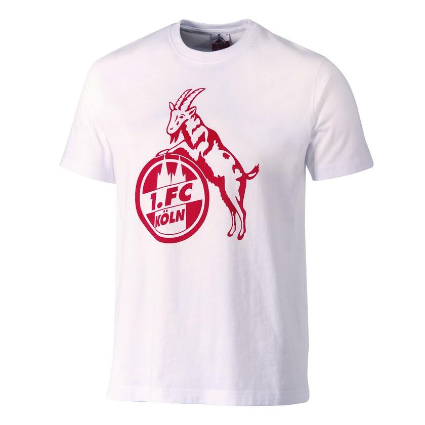 1. FC Köln T-Shirt Basic weiß/rot