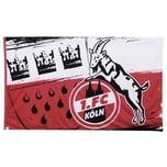 1. FC Köln Hissfahne Wappen quer 180x120cm