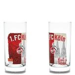 """1. FC Köln Trinkglas """"Rut & Wiess"""" 2er Set"""
