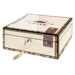 Angelo Humidor Cigarbox weiß hochglanz LxBxH 26 x 22 x 13 cm