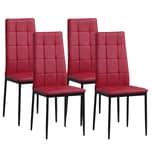 Albatros Esszimmerstühle RIMINI 4-er SET Rot
