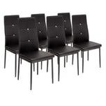 Albatros 6 x Esszimmerstühle DIAMOND schwarz