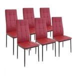 Albatros Esszimmerstühle RIMINI 6-er SET Rot