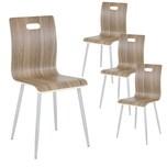 Albatros Esszimmerstühle TURIN 4er-Set Nussbaum