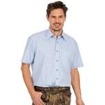 OS-Trachten Karo Kurzarmhemd 121000-2602-41 hellblau