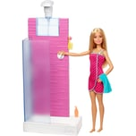 Barbie Puppe Deluxe-Set Möbel Shower & Puppe