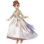 Hasbro Puppe Die Eiskönigin 2 Anna aus Arendelle Deluxe Modepuppe mit glitzerndem weißen Outfit