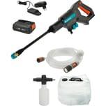 Gardena Akku-Mitteldruckreiniger AquaClean 24/18V P4A Premium Ready-To-Use Set
