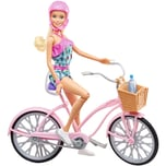 mattel Puppe Barbie Puppe und Fahrrad
