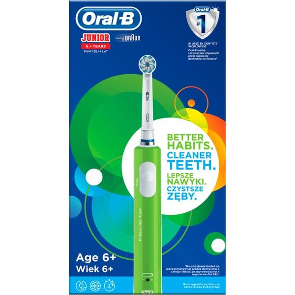 Braun Elektrische Zahnbürste Oral-B Junior grün