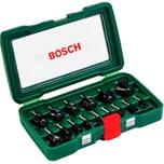 Bosch 15-teiliges HM-Fräser-Set (8 mm Schaft)