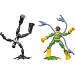 Hasbro Spielfigur Marvel Spider-Man Bend and Flex Black Suit Spider-Man gegen Doc Ock