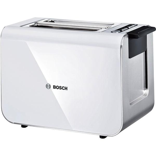 Bosch Toaster Styline TAT8611 weiß Kunststoff Auftaufunktion/Brotscheiben-Zentrierung/Stoppfunktion