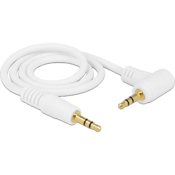 DeLOCK Kabel Audiokabel Klinke 3,5mm Stecker > 3,5mm Stecker weiß 50cm