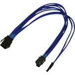 Nanoxia Adapter PCI-E-Adapterkabel 6- auf 6+2-Pin 30 cm blau
