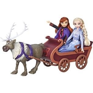 Hasbro Puppe Die Eiskönigin 2 Schlittenfahrt mit Sven und den Schwestern Elsa und Anna Spielset