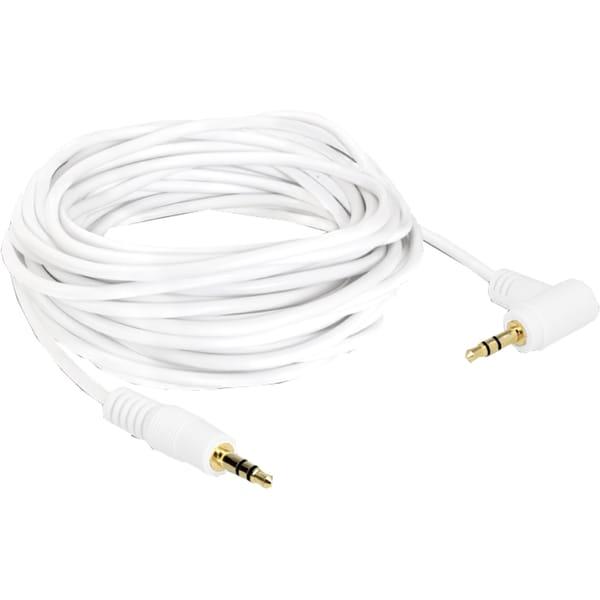 DeLOCK Kabel Audiokabel Klinke 3,5mm Stecker > 3,5mm Stecker weiß 5m