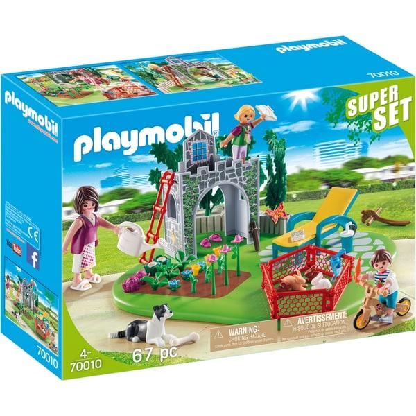 Playmobil Konstruktionsspielzeug SuperSet Familiengarten