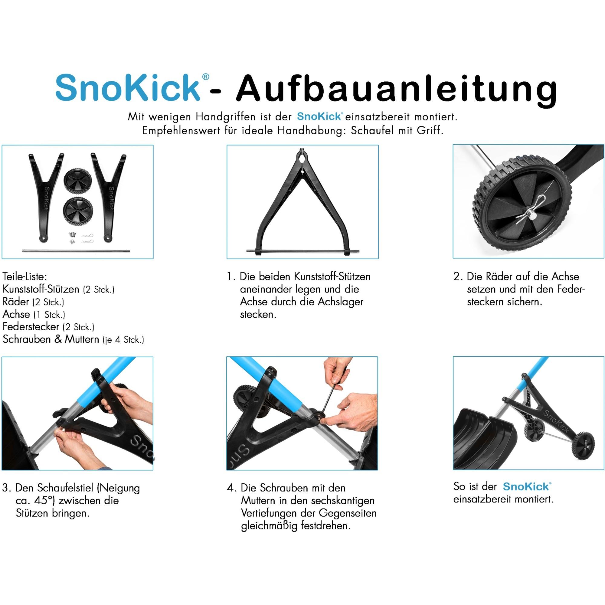 SnoKick Halterung für Schneeschaufeln