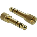 DeLOCK Adapter 6,35mm Stecker > 3,5mm 3Pin Buchse, schraubbar