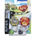 Hasbro Geschicklichkeitsspiel Beyblade Burst SlingShock Dual Pack Phoenix P4 und Cyclops C4
