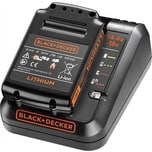 Black & Decker Ladegerät 1A & 1.5Ah Li-Ion Akku schwarz