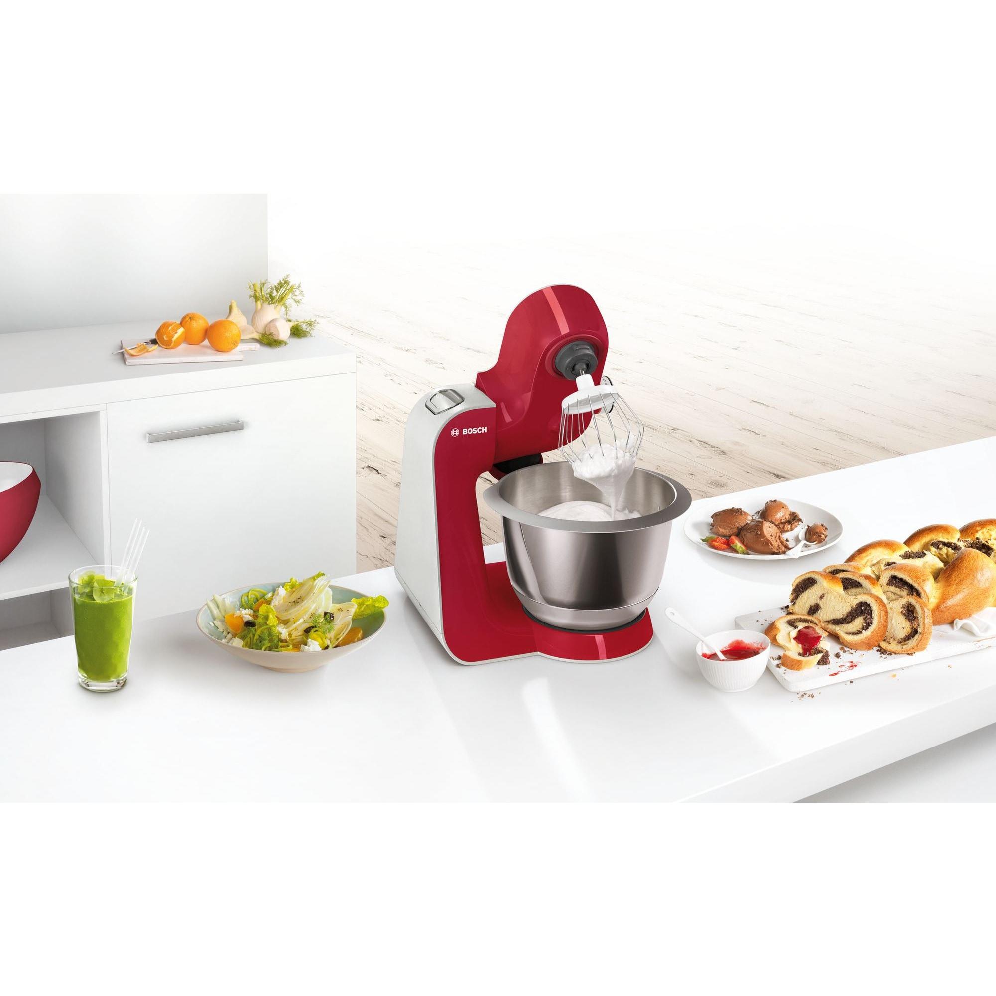Bosch Küchenmaschine MUM58720 rot-silber