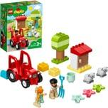 Lego Konstruktionsspielzeug DUPLO Traktor und Tierpflege